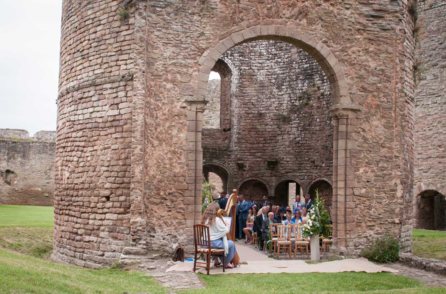 Ceremony at the Round Chapel in Ludlow Castle